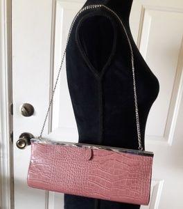 Aldo Mauve Clutch Clasp Fasten Chain Shoulder Bag